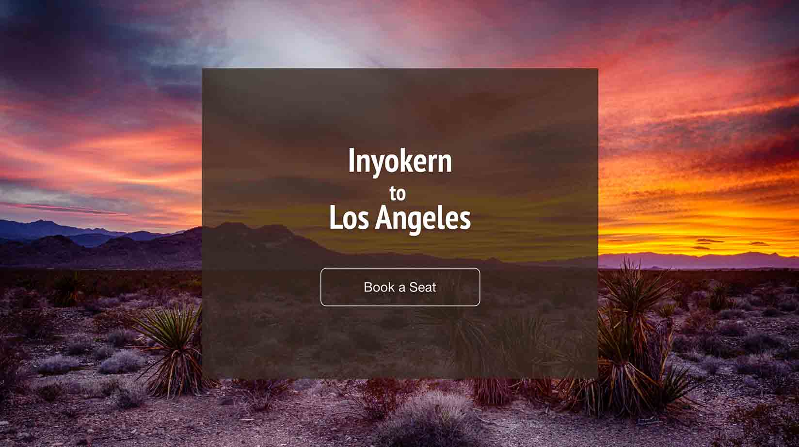 Inyokern (IYK) to Los Angeles (LAX)