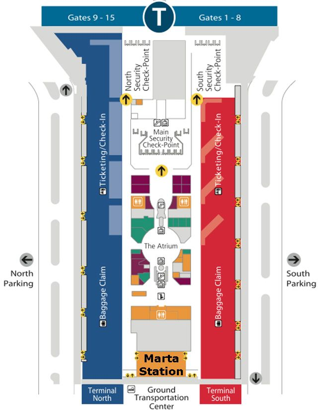 atlanta airport south terminal map Boutique Air Airport 521 atlanta airport south terminal map